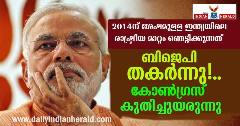 BJP DOWN -2014 CONGRESS UP